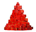 Christmas gifts tree Royalty Free Stock Photo
