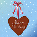 Christmas ginger heart Stock Images