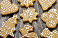 Christmas Ginger and Honey cookies Stock Photography