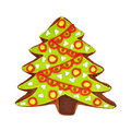 Christmas gingerbread cookie isolated on white Royalty Free Stock Photo