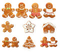 Christmas gingerbread cookie set Royalty Free Stock Photo