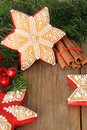 Christmas gingerbread cookie sugar star Stock Photo