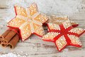 Christmas gingerbread cookie sugar star Royalty Free Stock Photo