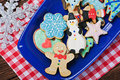 Christmas gingerbread cookies on a plate the table Stock Images