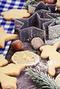 Christmas gingerbread cookies on the table Royalty Free Stock Photo