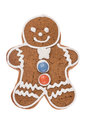 Christmas gingerbread man isolated on a white background Royalty Free Stock Photo