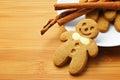 Christmas gingerbread men Stock Photography