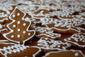 Christmas gingerbread sweet with snowman typical czech bread Stock Images