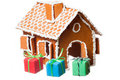 Christmas gingernut house Royalty Free Stock Images
