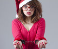 Christmas Girl handcuffed Stock Images