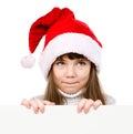 Christmas Girl In Santa Helper...