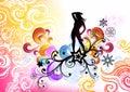 Christmas Girl Swirl Royalty Free Stock Photo
