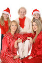 Christmas with the girls vertical Royalty Free Stock Image