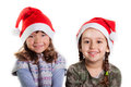 Christmas girls on white background Royalty Free Stock Photography
