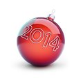 Christmas glass ball new year on a white background Stock Photo