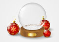 Christmas glass ball with snow Royalty Free Stock Photography