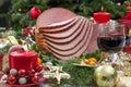 Christmas Glazed Ham Royalty Free Stock Photo