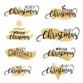 Christmas glittering brushes and text background in vector