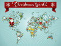 Christmas globe map concept Stock Photography