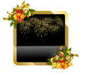Christmas gold background Royalty Free Stock Photography