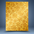 Christmas gold background snowflakes abstract Stock Photography