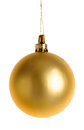Christmas gold bauble Royalty Free Stock Photo