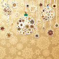 Christmas gold with baubles eps background vector file included Royalty Free Stock Photo