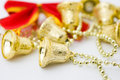Christmas gold bells Royalty Free Stock Photography