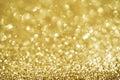 Christmas Gold Blinking Backgr...