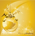 Christmas gold design background Stock Photography