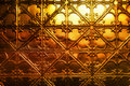 Christmas Gold Metal Background Royalty Free Stock Photo