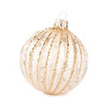 Christmas golden ball isolated on white background festive dec decorations ornaments macro Stock Photo