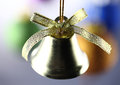 Christmas golden bell detail close up Royalty Free Stock Photography