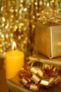 Christmas - Golden Theme III Royalty Free Stock Photo