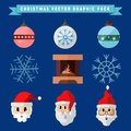 Christmas Graphic Illustration Package Symbols Set Vector Royalty Free Stock Photo