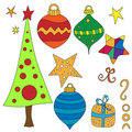 Christmas Graphics Collection Royalty Free Stock Image