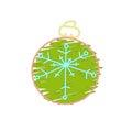 Christmas green ball