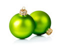 Christmas green decorations isolated on white background Royalty Free Stock Images