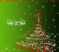 Christmas green decorative background illustration Royalty Free Stock Photos