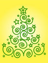 Christmas green tree Royalty Free Stock Images