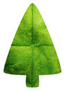 Christmas green tree recycled papercraft Royalty Free Stock Photo