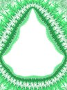 Christmas green white frame border, holiday frost pattern, orn Royalty Free Stock Photo