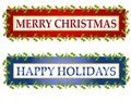 Christmas Greeting Banners or Logos Royalty Free Stock Photo