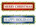 Christmas Greeting Banners or Logos Royalty Free Stock Photo