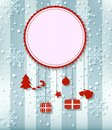 Christmas Greeting Card. with big free space for your advertising Royalty Free Stock Photo