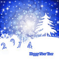 Christmas greeting card bright blue winter new year background Stock Images