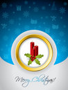 Christmas greeting card with candles Stock Images
