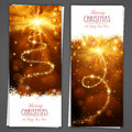 Christmas greeting card cards on a gray background Royalty Free Stock Images