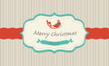 Christmas greeting card with cartoon bird Royalty Free Stock Photo