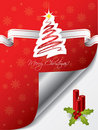 Christmas greeting card design with candles Royalty Free Stock Photography